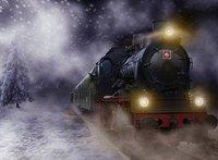 Polar Express trein winter sneeuw achtergrond Vinyl doek Hoge kwaliteit Computer print kinderen kids fotostudio achtergrond