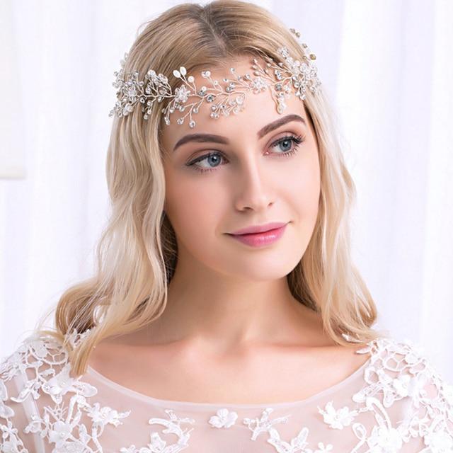 100 Handmade Gold Silver Color Vines Crystal Rhinestone Wedding Hair Accessories Luxury Pearl Bridal Hairband