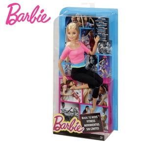 Image 5 - Барби авторизоваться бренд 7 Стильная обувь игрушки модные Куклы Йога Модель Игрушки для маленьких девочек подарок на день рождения Barbie Girl Boneca модель DHL81