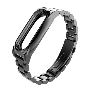 Stainless Steel Metal Plus For Xiaomi Miband 3&2 Smart Bracelet Replacement Bracelet Mi band 3 Wristbands Pulseira Miband Strap