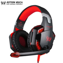 купить KOTION EACH PS4 Headset casque G2000 PC Stereo Gaming Headset with Microphone/LED Light for Xbox One Computer Gamer дешево