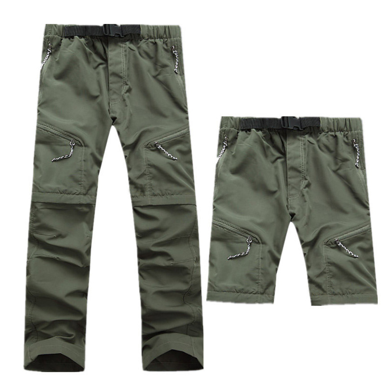 Men Breathable Outdoor Pants Hiking Pants Men Quick Dry Removable Camping Trousers Man Summer Male Hunting Climbing Pants S-XXXL
