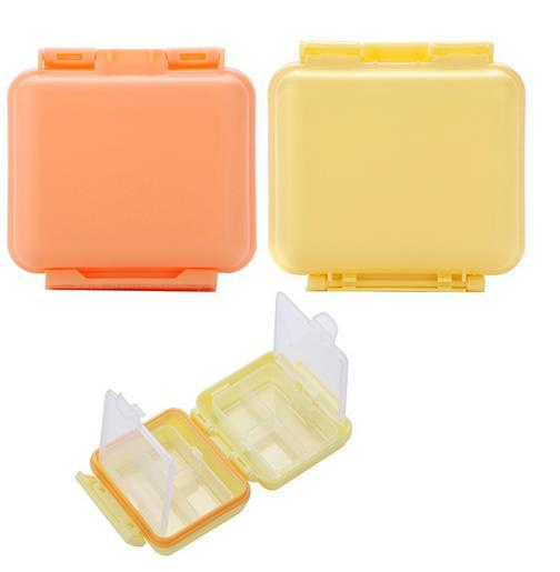 freeshipping 2pcs/lot 6slots Portable pill case / medicine box, for drugs and other personal care product ( MCPP resin material)