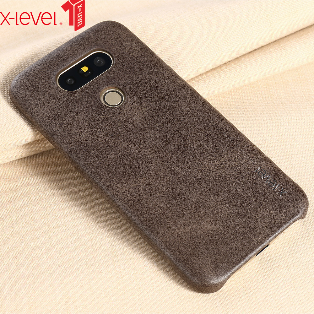 new styles 51e2d 52c31 US $7.09 25% OFF|X Level Retro Leather Case for LG G5 Cover Original Ultra  Thin Light Protective Back Capa Business Cover Case for LG G5-in ...