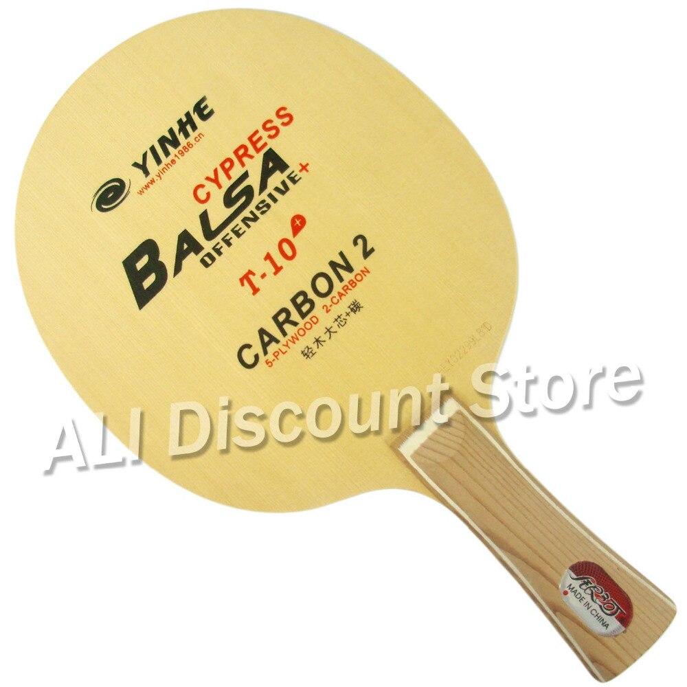 Lame de Ping-Pong d'origine Galaxy Yinhe T-10 + Cypress Balsa en carbone pour Ping-Pong