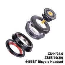 "4455ST auriculares para bicicleta de montaña, pieza interna de horquilla de tubo recto, 44mm, 55mm, CNC 1, 1/8 "" 1, 1/2"", 1,5, 28,6"