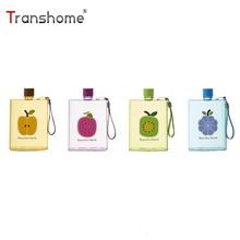 Transhome papírtekercs 320ml A6 Notebook lapos vizes palack Műanyag hordozható szivárgásmentes kreatív italkészítés a szabadtéri sporthoz