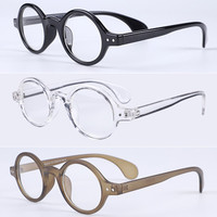 6947ec8e71 Vintage Oval Round 42.70mm Acetate Eyeglass Frames myopia Men Women Full  Rim Retro Fashion Glasses