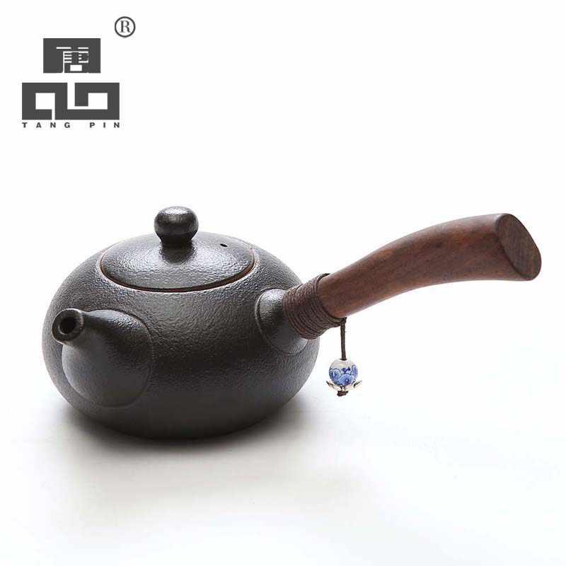 TANGPIN Ceramic Teapot wood handle Tea Pot