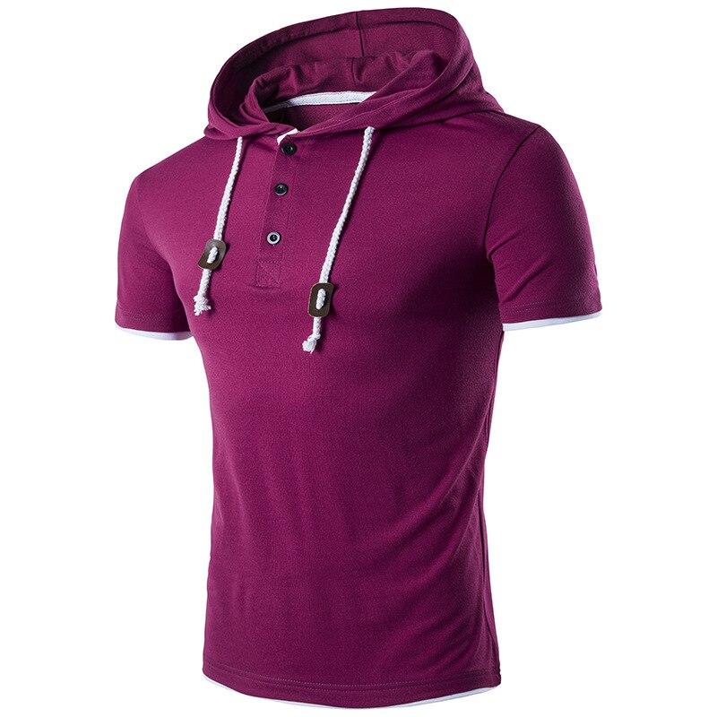 2018 nouveau style d'été hommes solide couleur Coton à manches courtes T-shirt R1002-R1025