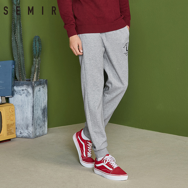 SEMIR Men Pull-on Joggers with Slant Pocket Men's Sweatpants Sport Pants with Drawstring Waistband Ribbing at Waist and Hem