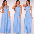 DIY Women Strapless bandage Variety bohemian oblique cross sexy evening maxi dresses vestido de festa black infinity party dress
