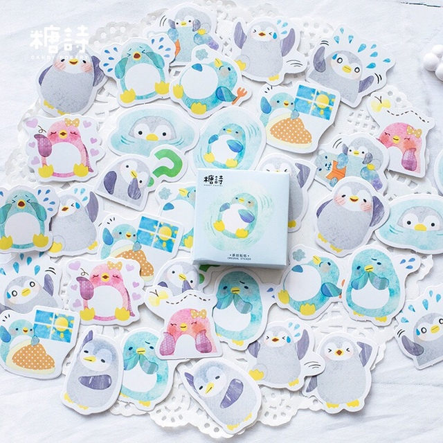 45 pcs Deco Scrapbooking Diary Planner Stickers Kawaii Penguin sticky notes Abums Photo Tag/gift sealing paste/Cute stationery