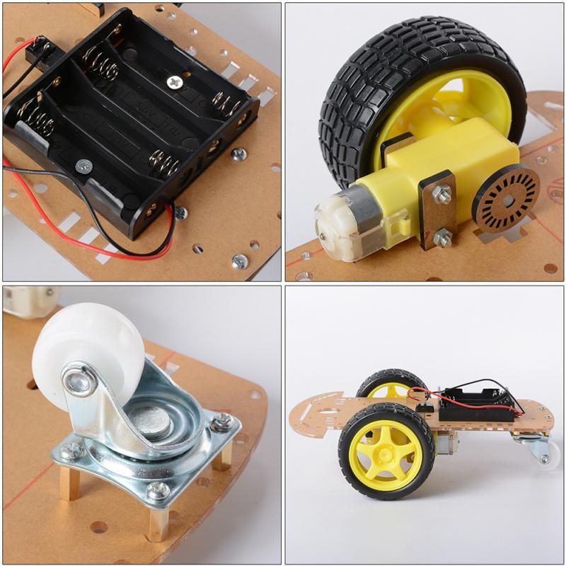 Image 4 - 2WD двигатель умный робот шасси автомобиля Комплект Скорость кодер батарея коробка-in Детали и аксессуары from Игрушки и хобби