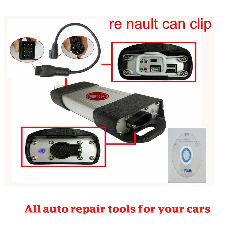 Цена за Последняя Версия Renault Может Закрепить renault V157 диагностические инструменты сканер freeshipping по dhl wow cdp