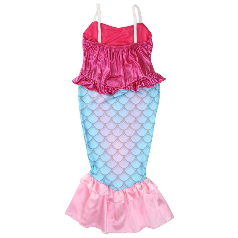 Pudcoco Baby Girls Clothes The Mermaid Ariel Kids Girls Dresses Princess Cosplay Halloween Costume 2