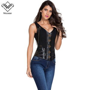 Image 3 - Корсет в стиле стимпанк, Готический кожаный корсет, корсаж, сексуальный корсаж, корсет, корсеты, стальной корсет, корсет, корсет