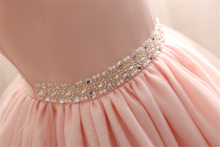 Baby Girls Evening Dress Kids Sequins Lace Princess Dress with Pearl Belt Toddler Wedding Gown Clothes Children Costume Vestido