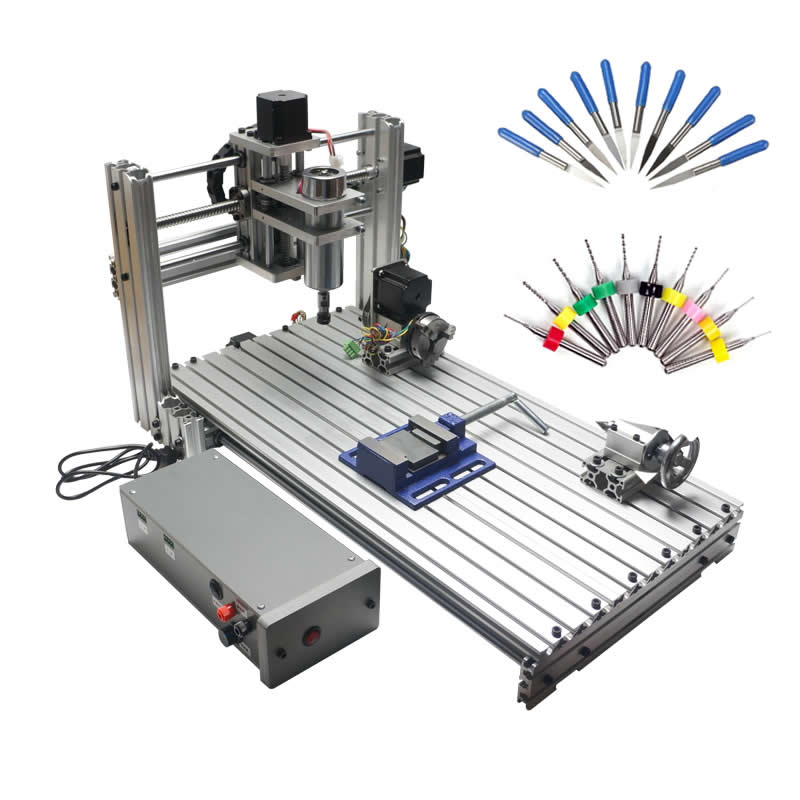 USB CNC 6020 5 axis CNC router wood carving machine woodworking milling engraving machine
