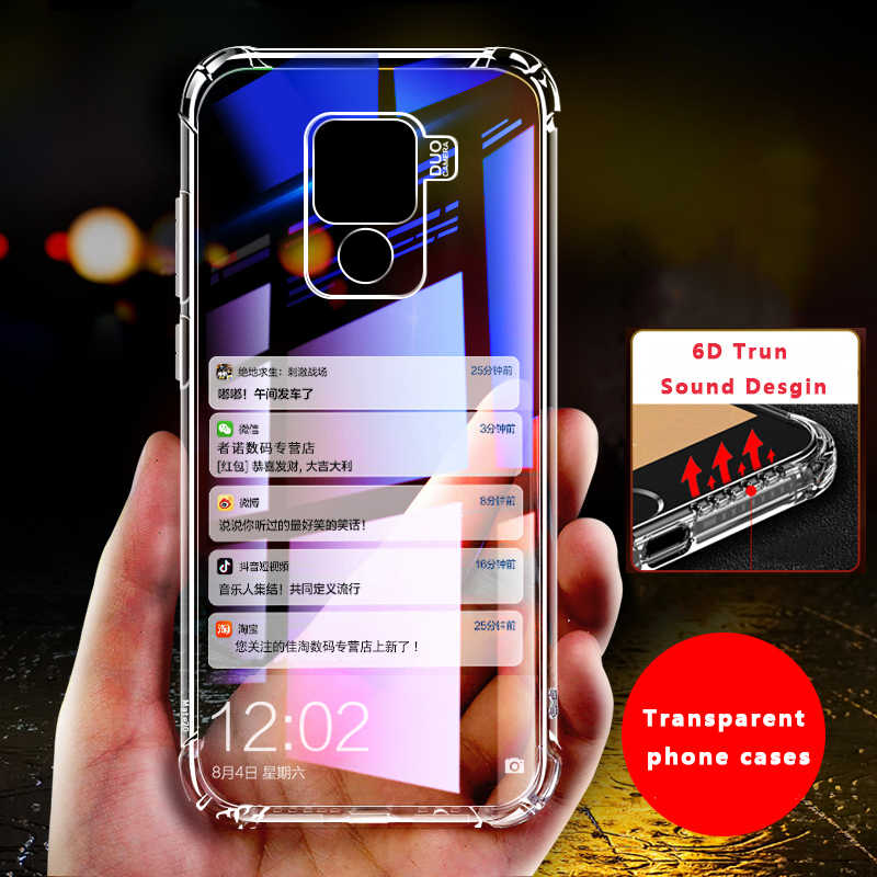 6D Truned Sound Case For Huawei P30 Pro Mate 20 P20 Lite Pro Y6 Prime Y9 2019 Case Transparent Clear Coque For Honor 8C Nova 3i