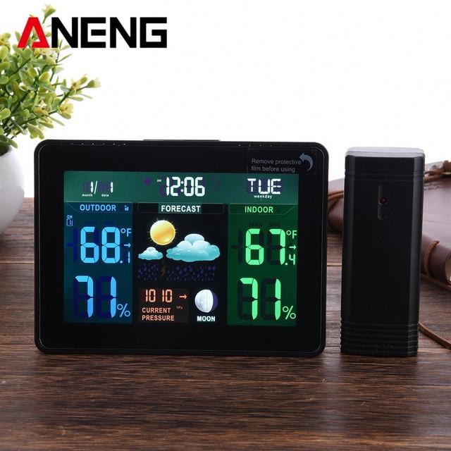 Digital Lcd Wireless Weather Station Clock Alarm