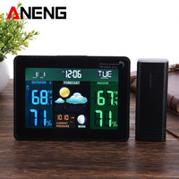 Color Wireless Weather Station With Forecast Temperature Humidity Indoor Outdoor Thermometer Hygrometer EU Plug