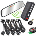 RUSSIAN product wireless LED mirror car parking sensor numeral and LED display three alert colors high accuracy detection
