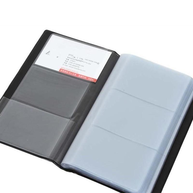 Business Card Holder Leather 300 Slots Business Name ID Credit Card Holder Case