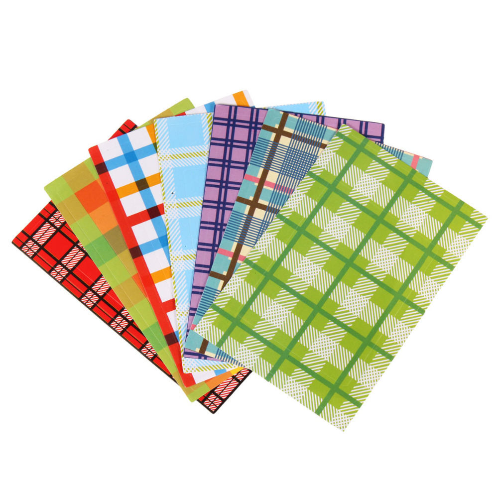 20sheets pack 5packs of classic polaroid decorative sticker font b tartan b font pattern photo frame