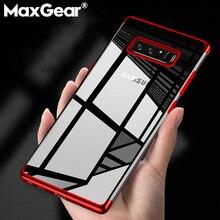 MaxGear Koruyucu Silikon Telefon Samsung kılıfı Galaxy Not 5 8 9 Şeffaf Ince Kapak Için Samsung S6 S7 Kenar S8 S9 artı