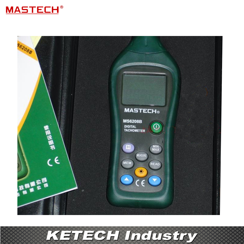 Non Contact Digital Tachometer With Stable Performance 50RPM--19999RPM Meter MS6208B victor dm6235p digital tachometer