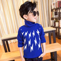 Boy clothes with cashmere Turtleneck Shirt 2016 new children warm winter lightning thick long sleeve T-shirt clothing A268