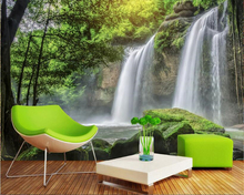 beibehang Creative fashion large-scale wallpaper beautiful waterfall landscape entrance interior decoration background 3D behang