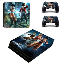 Jump Force PS4 Pro Skin Sticker For Sony PlayStation 4 Console and 2 Controllers PS4 Pro Skin Stickers Decal Vinyl