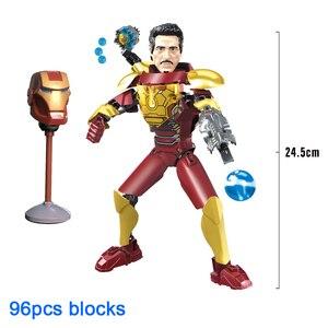 Image 5 - Avenger Siêu Anh Hùng Thor Đội Trưởng Mỹ Iron Man Siêu Nhân Buildable Hành Động Hình Khối Xây Dựng Đồ Chơi Gạch Tương Thích với
