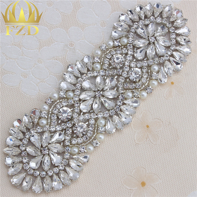 30 Pcs Wedding Decoration Rhinestone Withe Lique Crystal Sewing Liques Patches For Dress Embellishments Gl