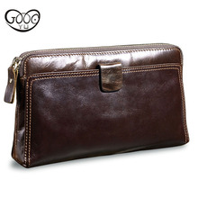 New Mens Wallet Real Genuine Leather Wallets large capacity Men Wallets Coin Purse ID Card Holder Purse With Coin Pocket