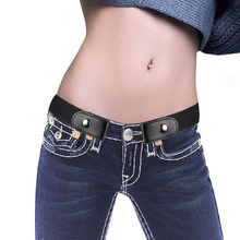Creative Buckle-Free Elastic Belt No Buckle Stretch Waist Belt for Jean Pants Dresses @LS NO07