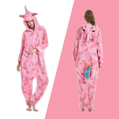 Women Men Unisex Hooded Pajamas Cosplay