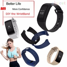 A09 DIY Smart Wristband Heart Rate Monitor Fitness Tracker Blood Pressure Smart Bracelet All Compatible with IOS Android
