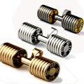 Colar para homens vão caber pingente barra haltere de aço stainess pingente com 23 em titanium cadeia colar de jóias de moda masculina