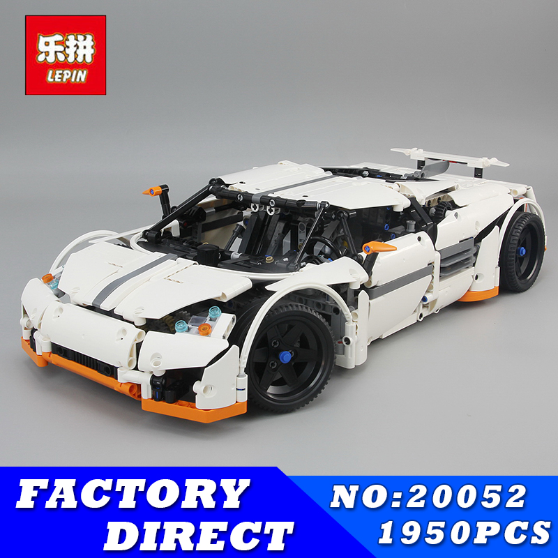 Lepin 20052 Technic Series The Predator Supercar Set MOC-2811 Assemblage DIY Building Blocks Bricks Kits Childeren Christmas Toy lepin 20052 the predator supercar set moc 2811 diy building blocks bricks children educational toy christmas gift lepin technic