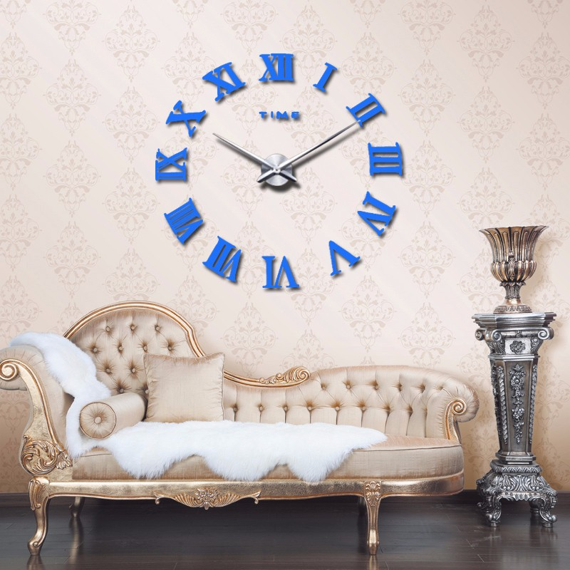 promotion 16 new home decor large roman mirror fashion modern Quartz clocks living room diy wall clock watch free shipping 9