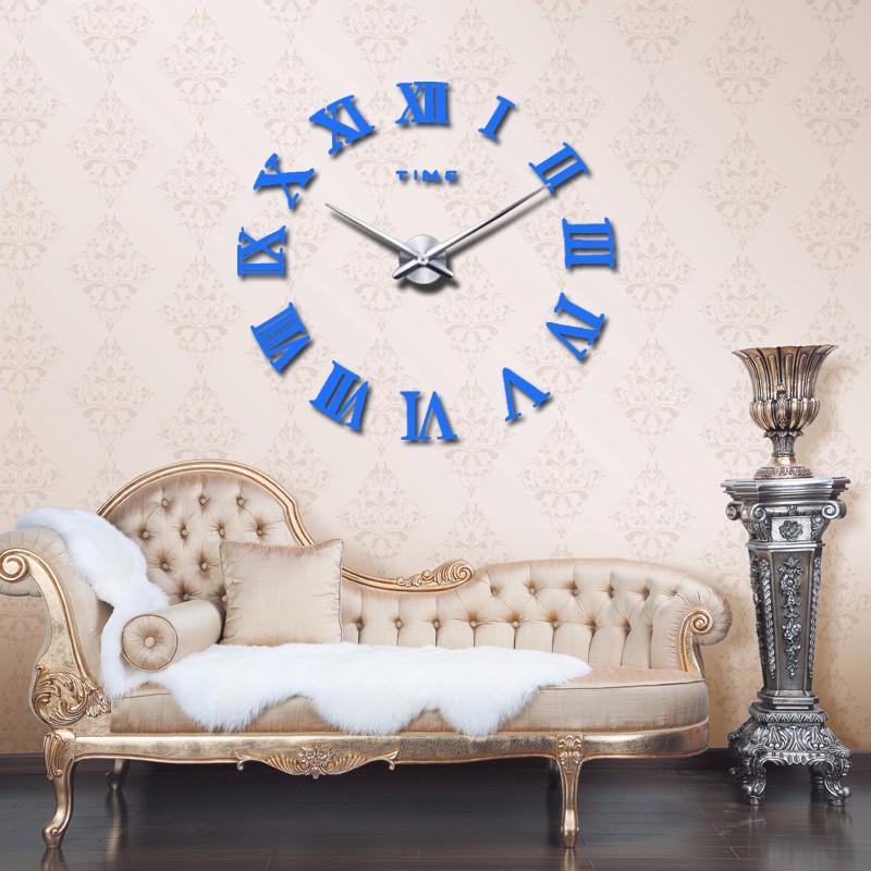 promotion 16 new home decor large roman mirror fashion modern Quartz clocks living room diy wall clock watch free shipping 9