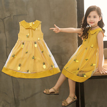OLOEY 2019 Lace Gauze Princess Dress Summer Autumn Baby Party  Design Kids Cotton Clothes For Children Trend