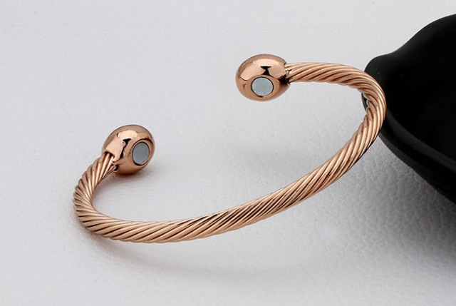 Vintage Pure Copper Magnetic Bracelet Bangle Solid Healing Healthy Energy Twisted Chain