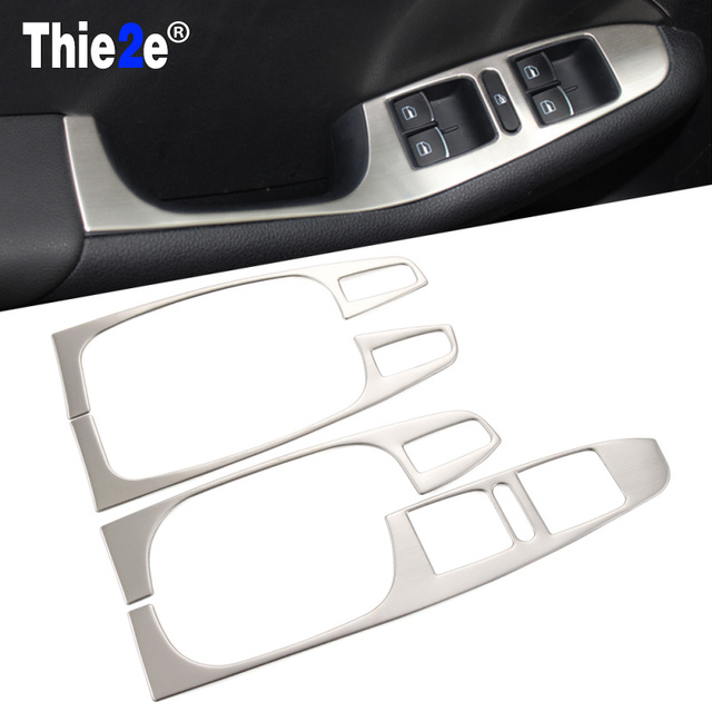 Car Accessories stainless steel armrest panel cover Auto ...
