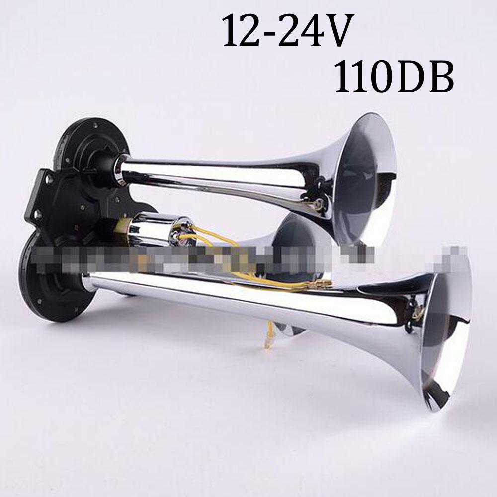 Universal 12-24V three-plated air horn motorcycles cars trucks buses trumper 110 BD good sound high quality horns