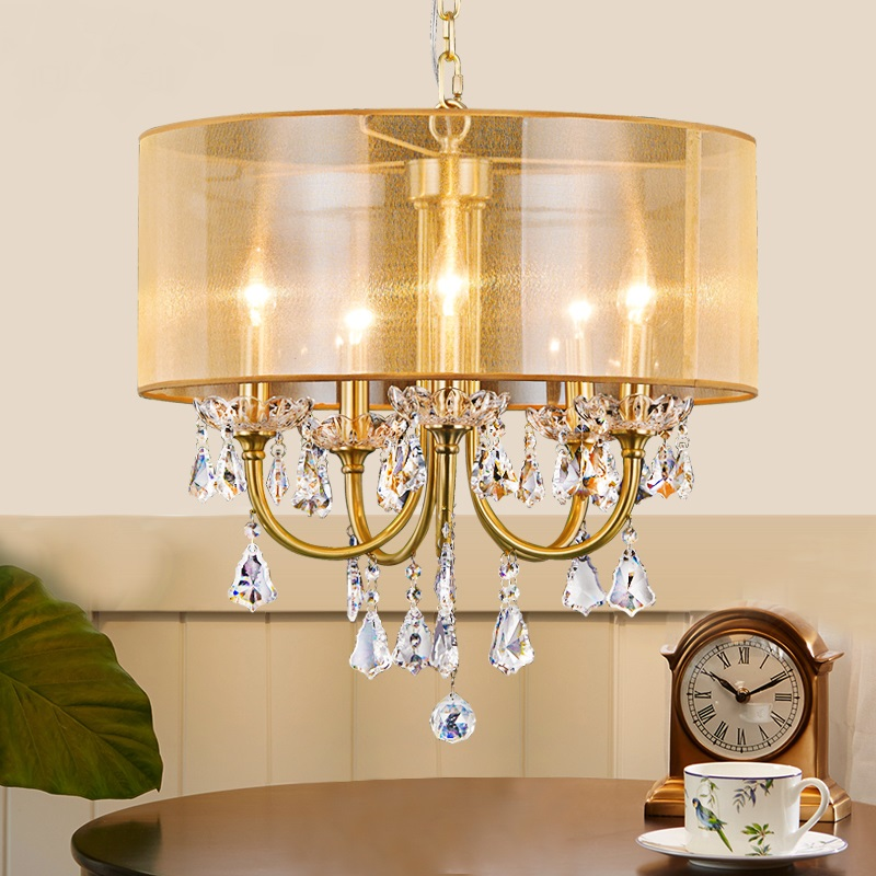 American all copper restaurant Pendant Light living room simple pastoral bedroom aisle study creative French pure LU629 ZL81 YM the living room lamp double european glass pendant lights simple modern bedroom lamps light in the hall american restaurant lu