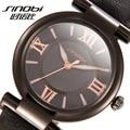 SINOBI Кварцевые Наручные Часы, Женские Часы Моды 2016 Случайные Кожа Известный Лучший Бренд Класса Люкс Кварцевые часы Дамы Часы Браслет